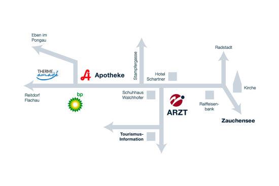 Arzt - Altenmarkt - Dr. Vasold Andreas - Lage - Anreise